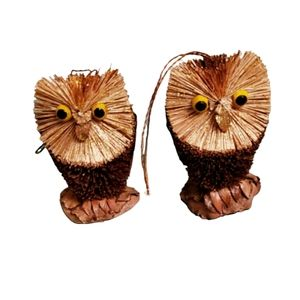 Other - 🐱NWOT Two Bristle Brush Owl Ornaments